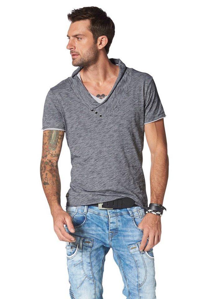 Cipo & Baxx T-Shirt in grau-meliert