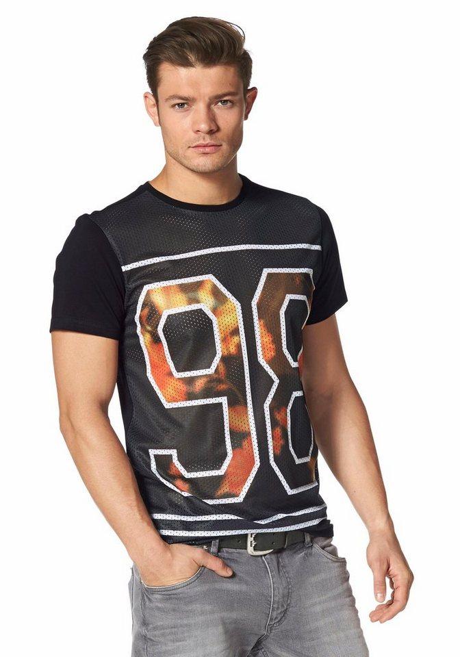 John Devin T-Shirt in schwarz-bedruckt