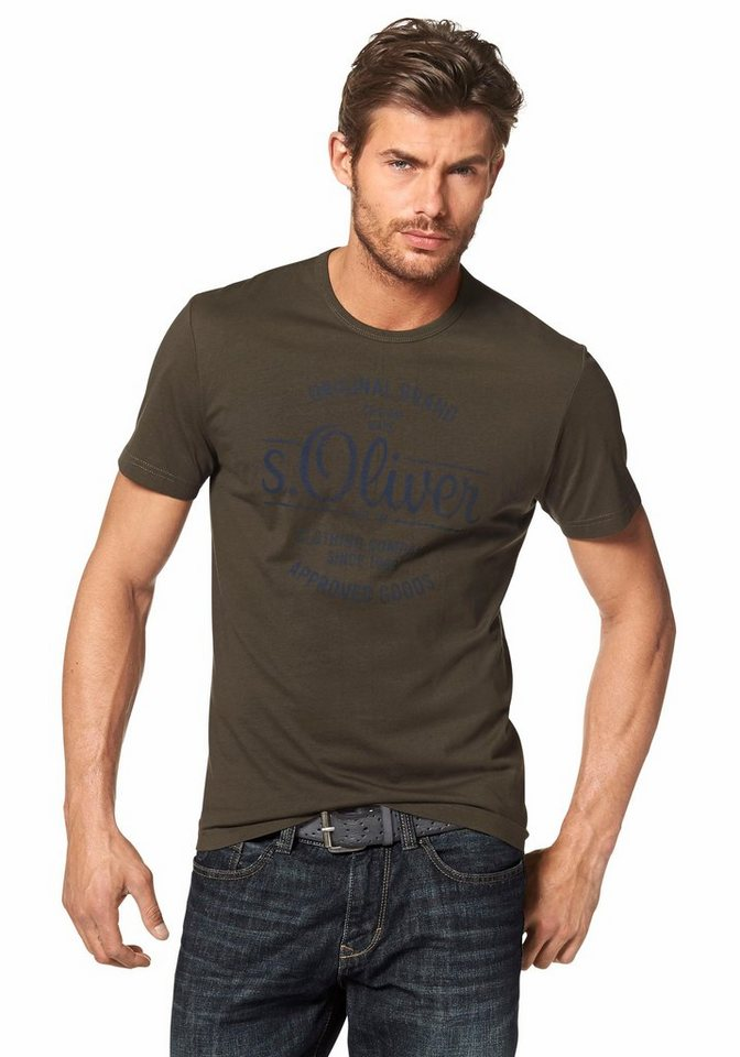 s.Oliver RED LABEL T-Shirt in khaki