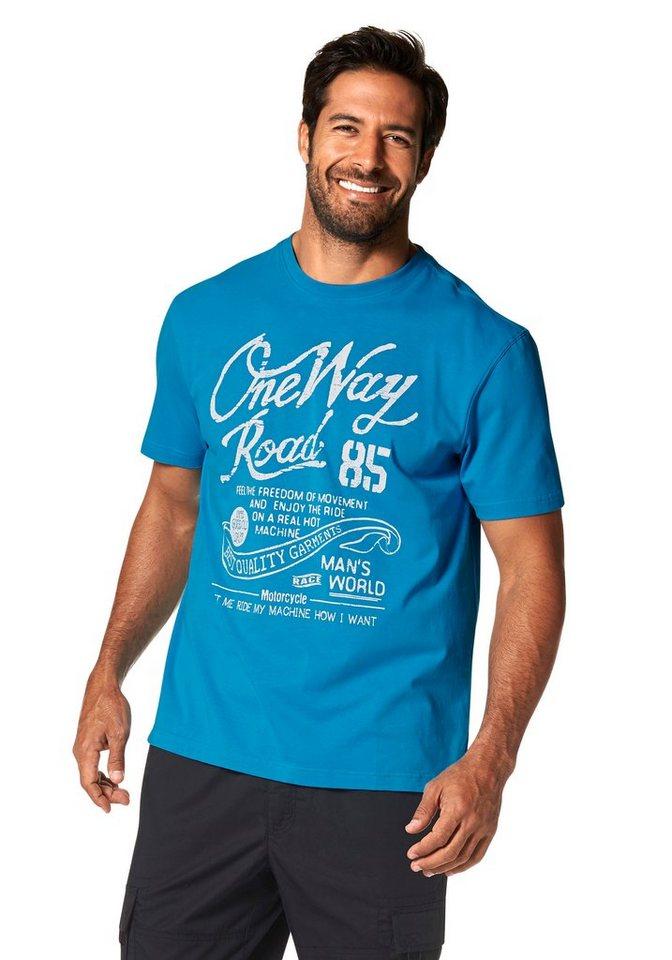 Man's World T-Shirt in aquablau