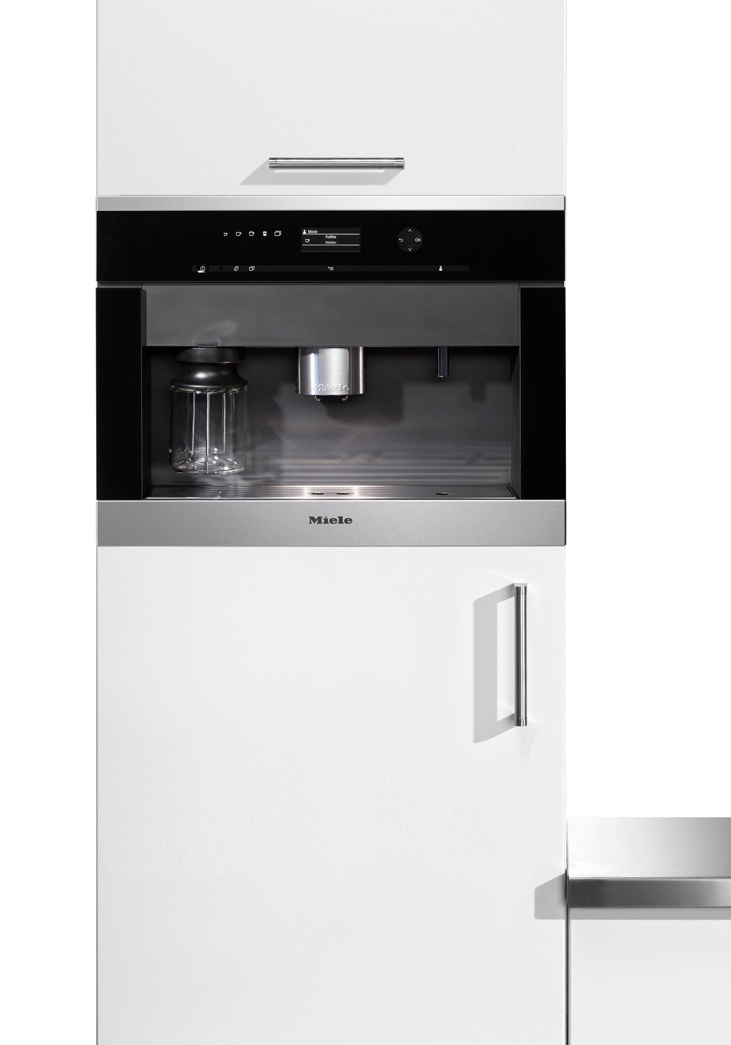 Miele Einbau-Kaffeevollautomat CVA 6401, Integrierter Milchtank, 15bar, CleanSteel