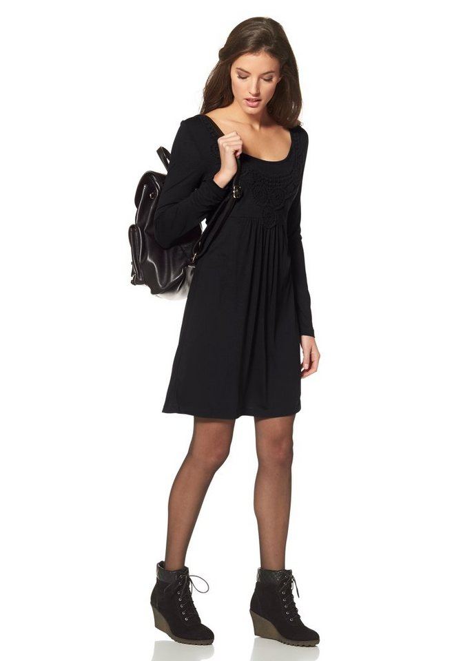 Aniston Jerseykleid in schwarz