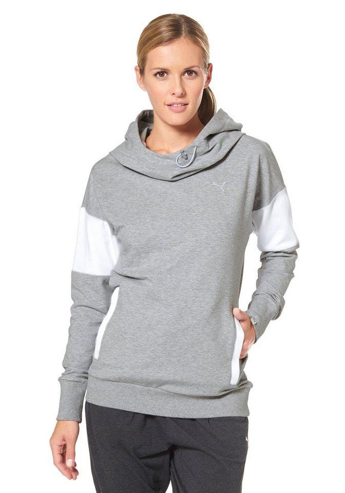 PUMA STYLE INJ SWAGGER HOODY Kapuzensweatshirt in Grau-Meliert