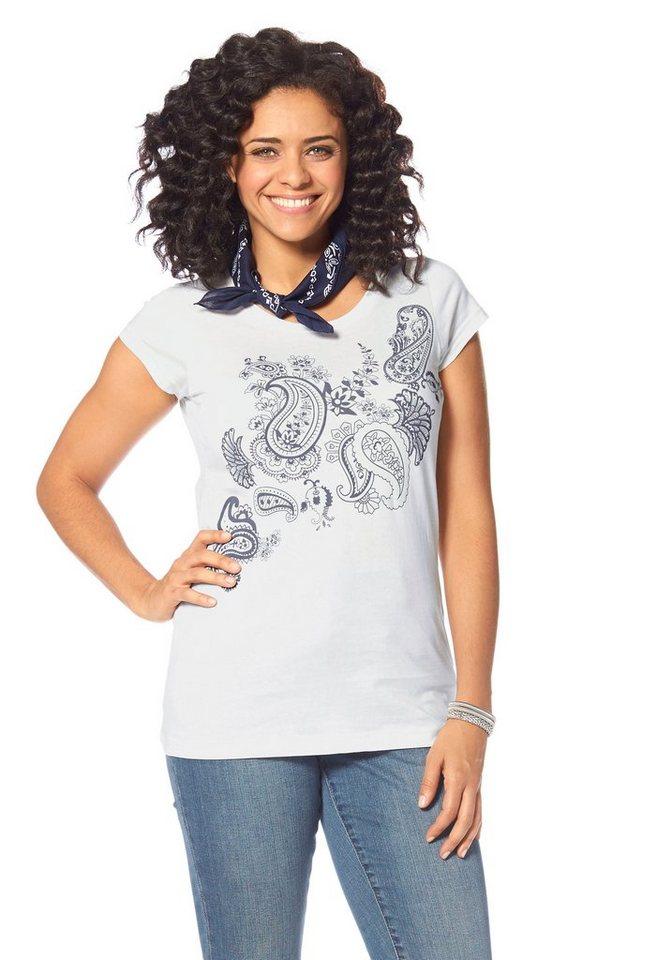 Boysen's T-Shirt aus reiner Baumwolle in wollweiß