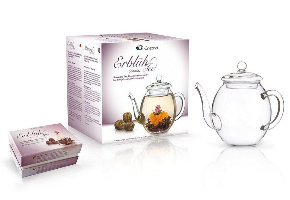 Creano Erblüh-Tee, »Schwarzer Tee« in transparent/bunt