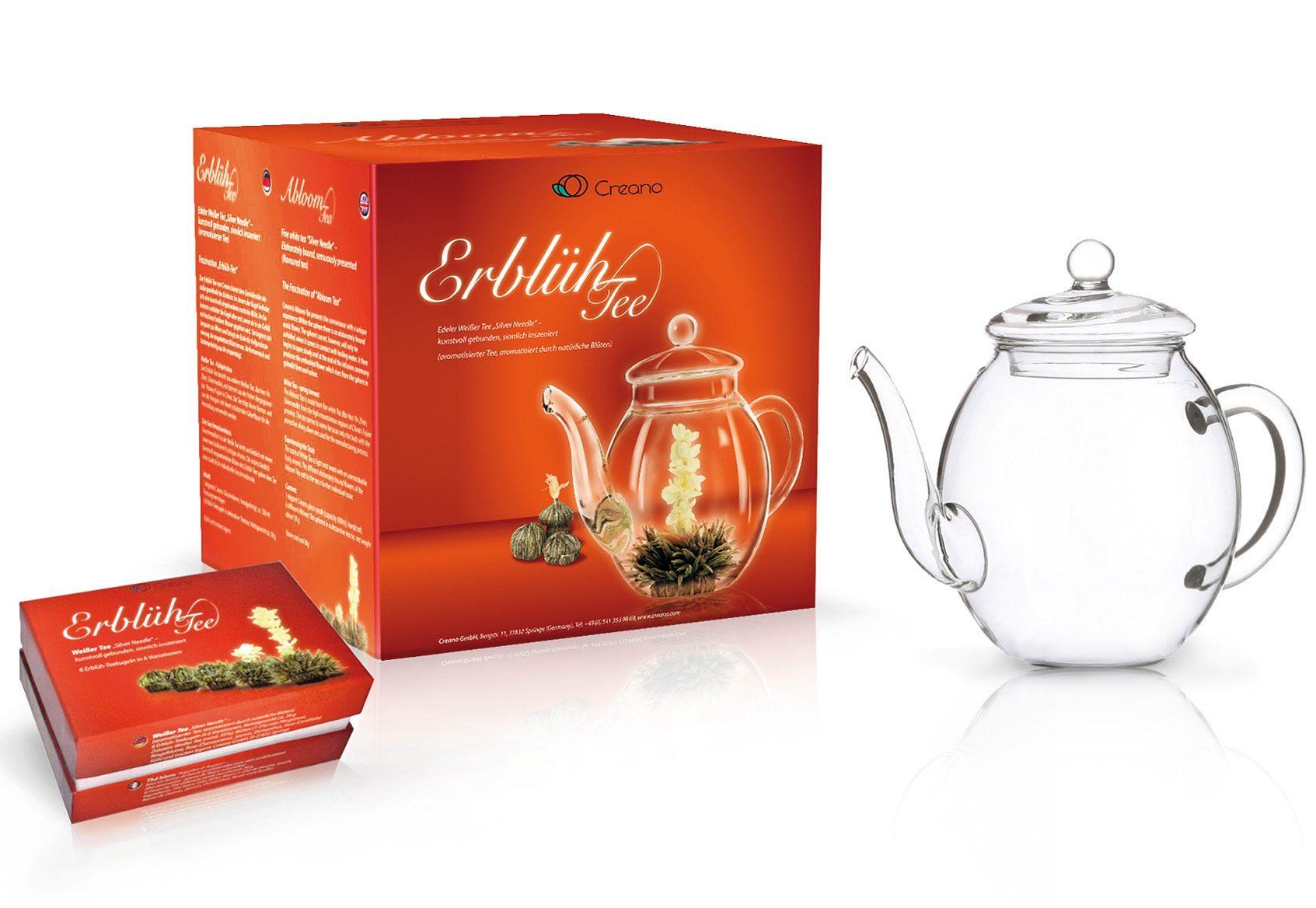 Creano Erblüh-Tee Geschenk-Set, »Weißer Tee«