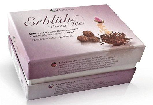 Creano Tee Box ErblühTee Schwarzer Tee in bunt