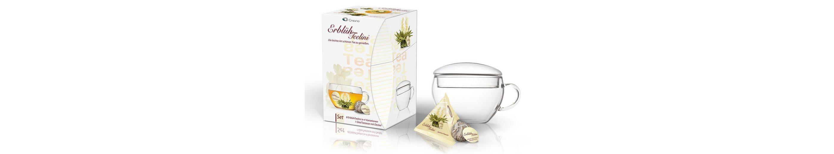 Creano Erblüh-Teelini Geschenk-Set, »Weißer Tee«