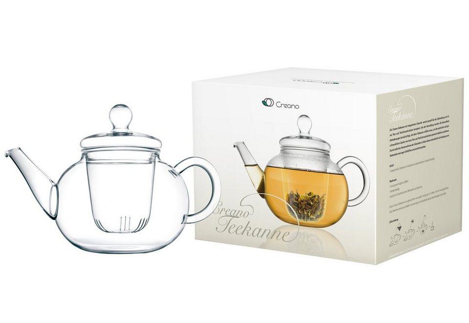 Creano 3-teilige Glas-Teekanne in transparent