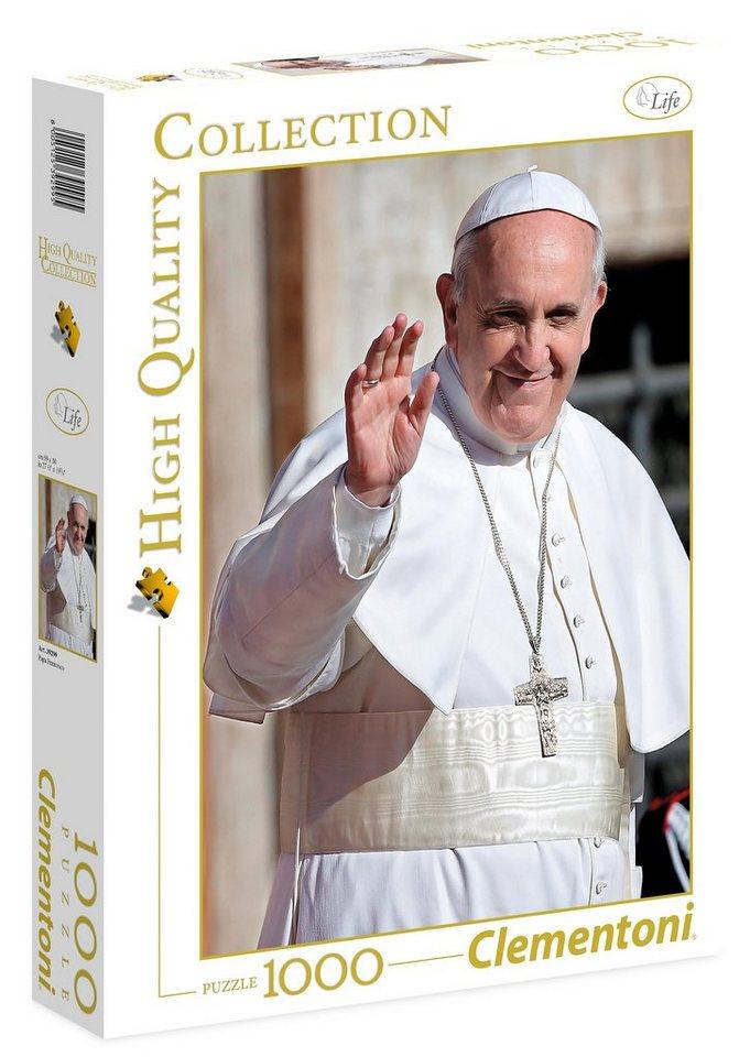 Clementoni Puzzle, 1000 Teile, »Papst Franziskus«