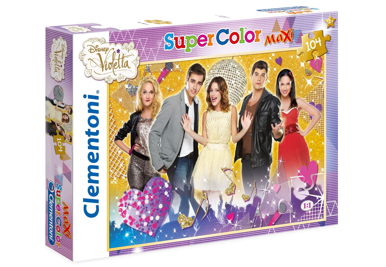 Clementoni Puzzle, 104 Teile, »Disney Violetta golden Edition«