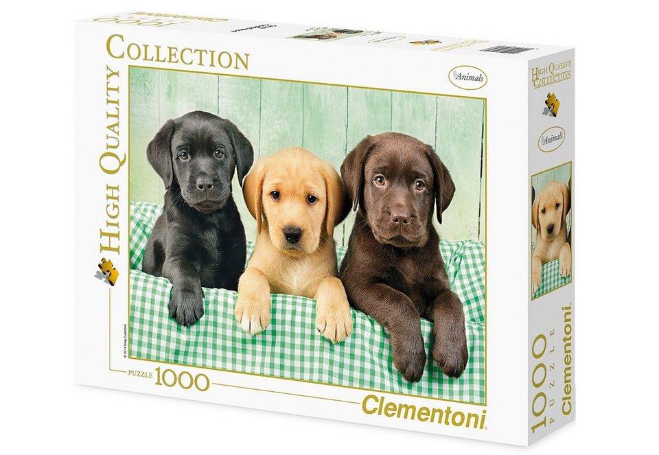 Clementoni Puzzle, 1000 Teile, »Drei Labradore«