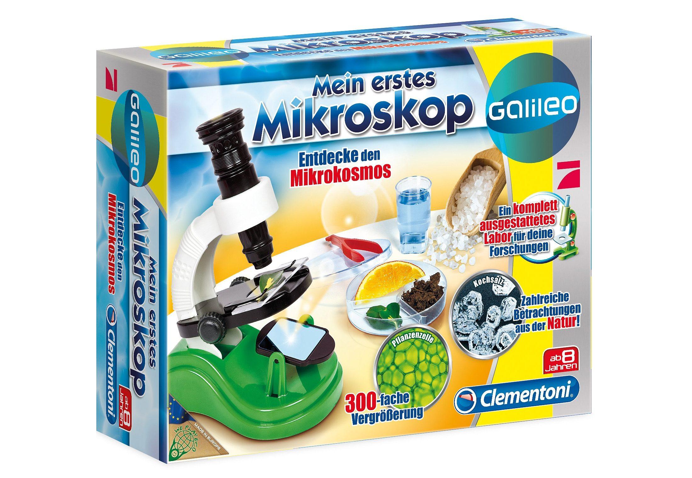 Clementoni Experimentier-Set, »Galileo - Mein erstes Mikroskop«