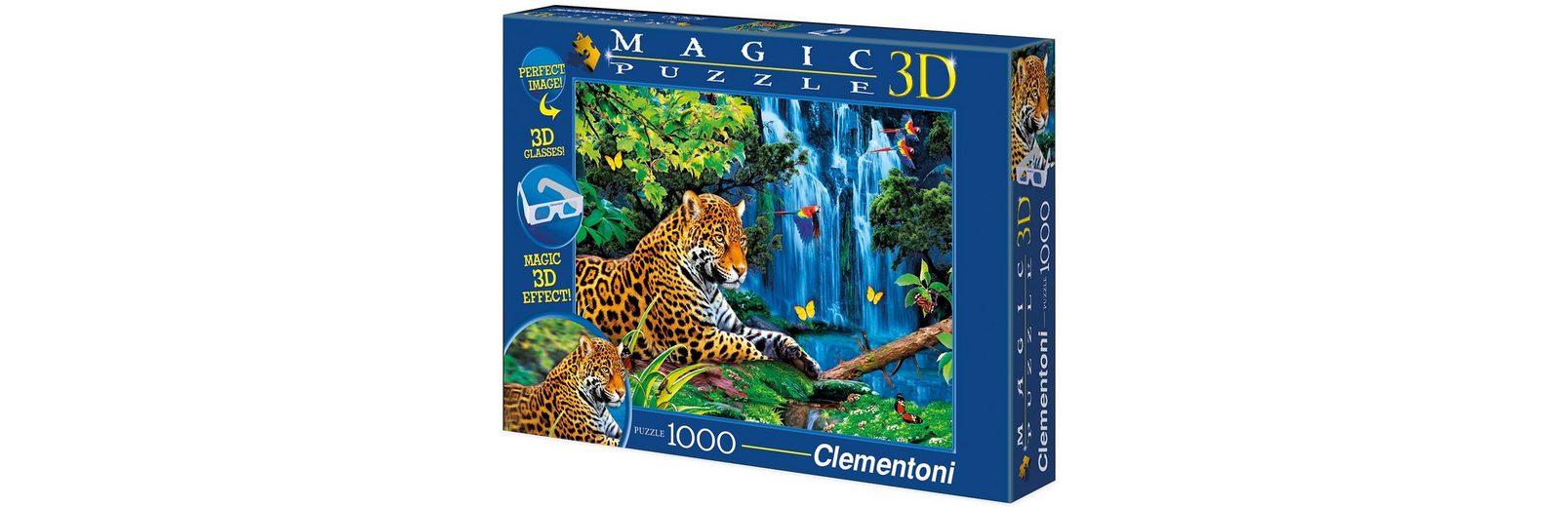 Clementoni Puzzle 1000 Teile, »Magic Puzzle 3D - Jaguar im Dschungel«