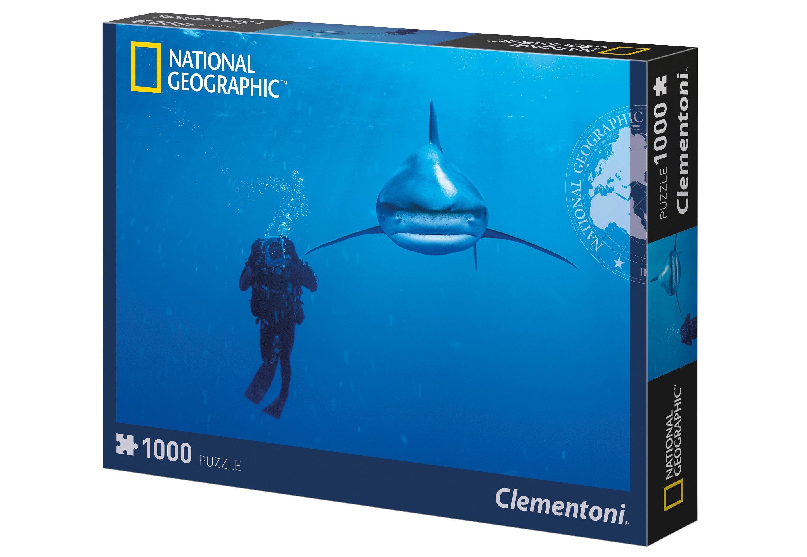 Clementoni Puzzle, 1000 Teile, »National Geographic - Whitetip Hai«