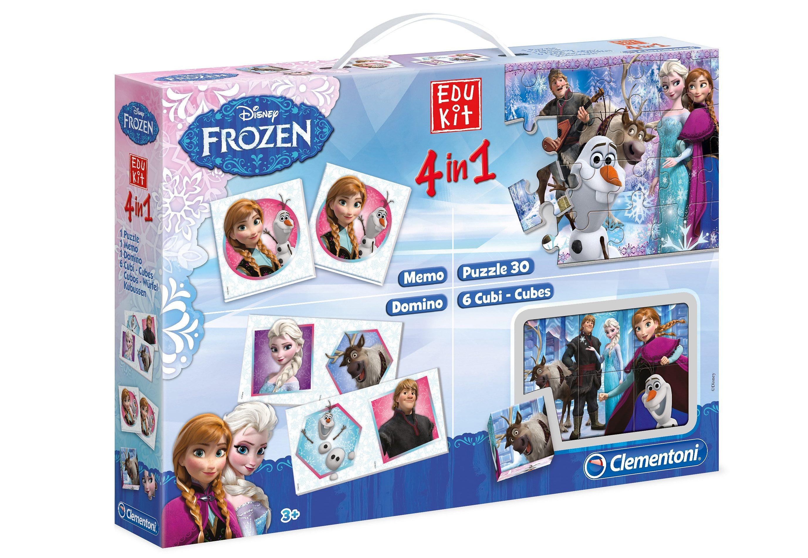 Clementoni Spieleset, »Edukit 4in1 - Disney Frozen«