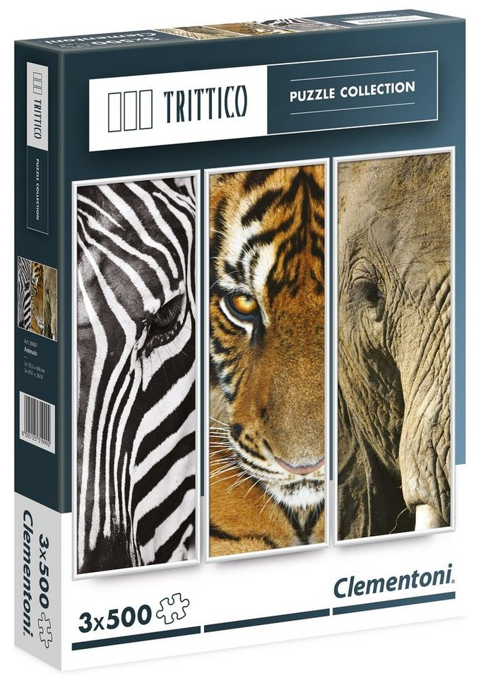 Clementoni Puzzle, 1500 Teile, »Trittico - Tiere«