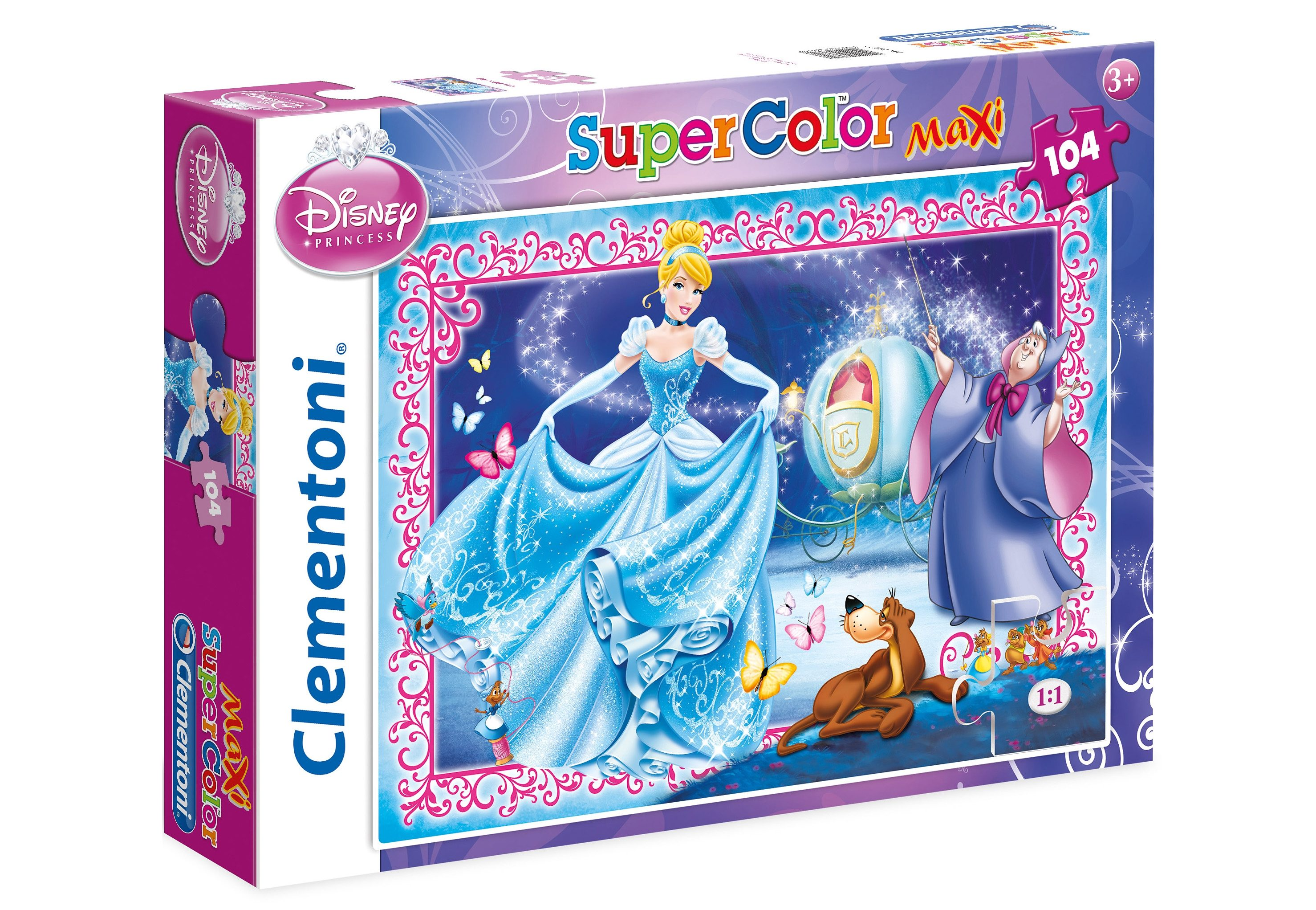 Clementoni Puzzle, 104 Teile, »Disney Cinderella«