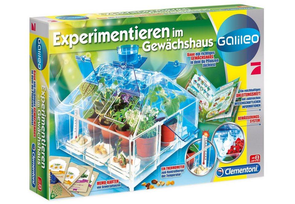Clementoni Experimentier-Set, »Galileo - Experimentieren im Gewächshaus«