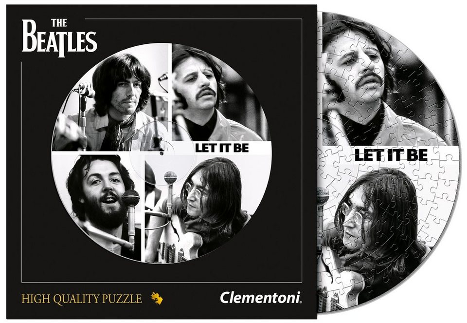 Clementoni Schallplatten-Puzzle, 212 Teile, »The Beatles, Get Back«