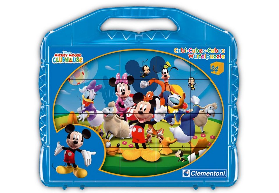 Clementoni Würfelpuzzle, 24 Teile, »Mickey Mouse Clubhouse«