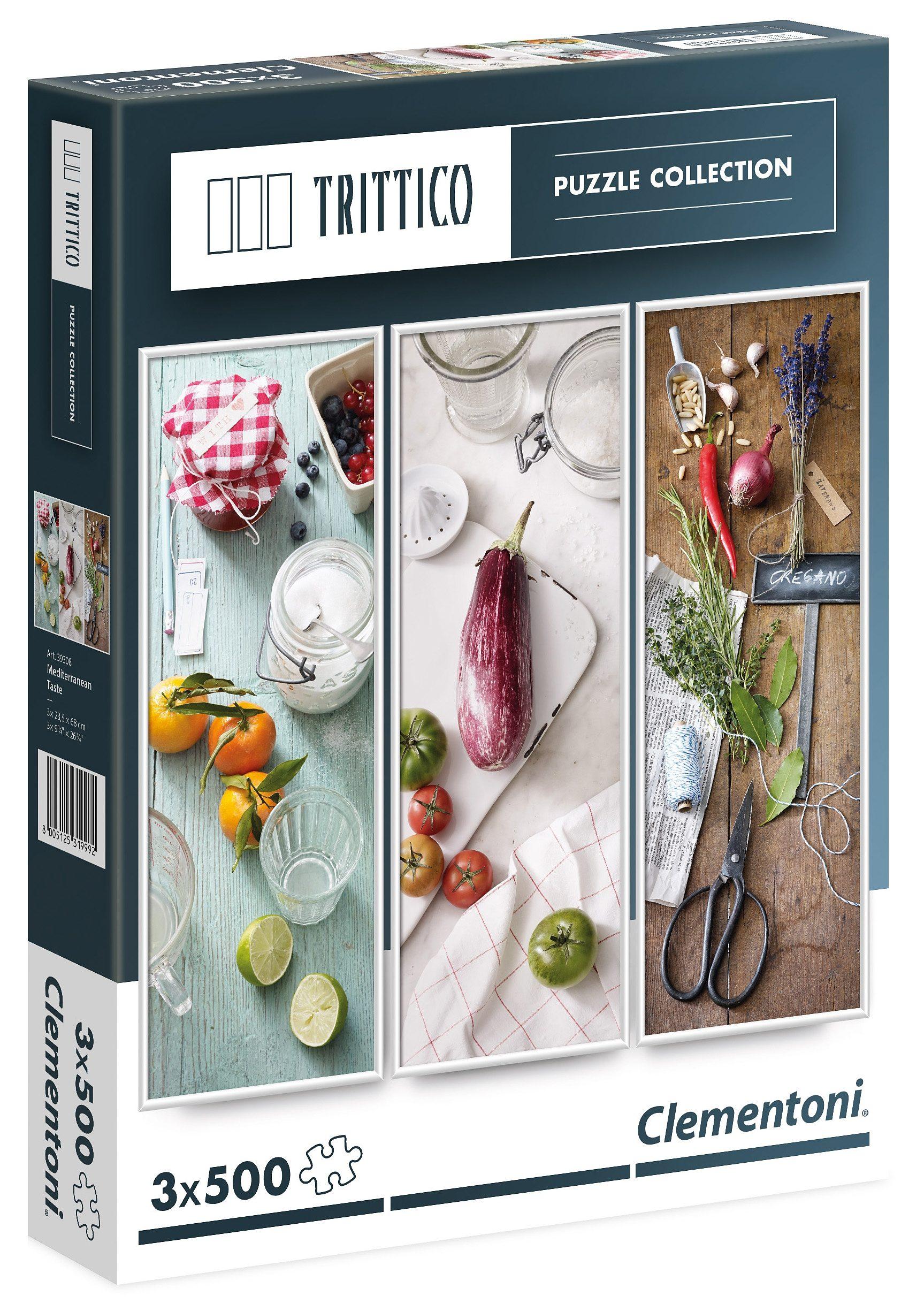 Clementoni Puzzle, 1500 Teile, »Trittico - Mediterrane Küche«