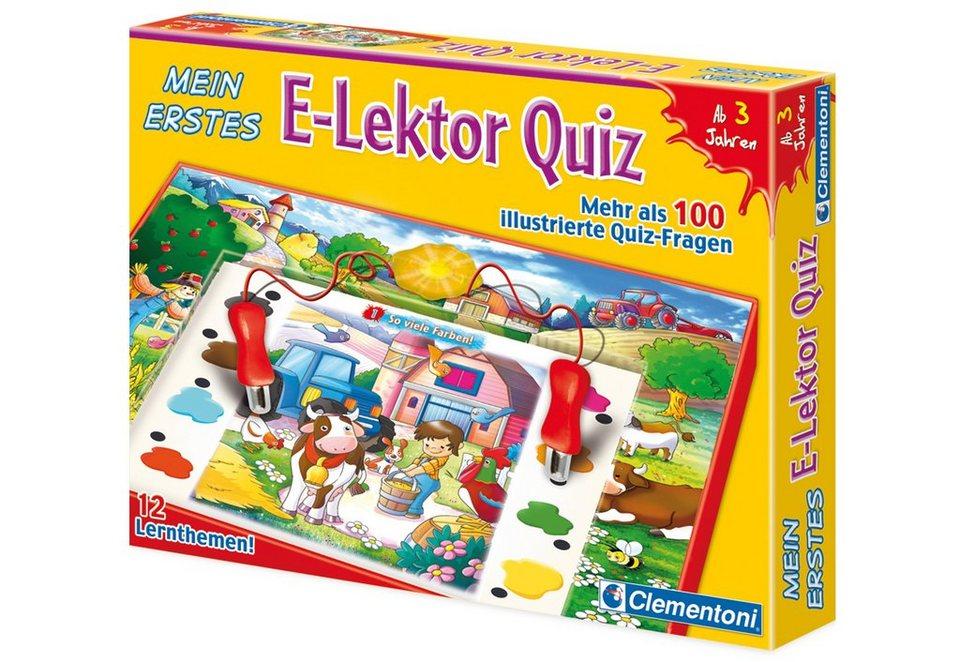 Clementoni Lernspiel, »Mein erstes E-Lektor Quiz«
