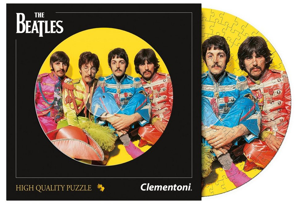 Clementoni Schallplatten-Puzzle, 212 Teile, »The Beatles, With a Little Help from My Friends«