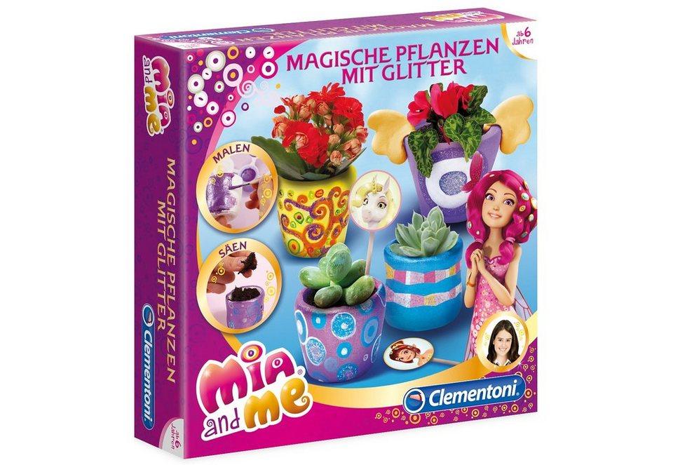 Clementoni Kreativ-Set, »Mia and me - Magische Pflanzen mit Glitter«