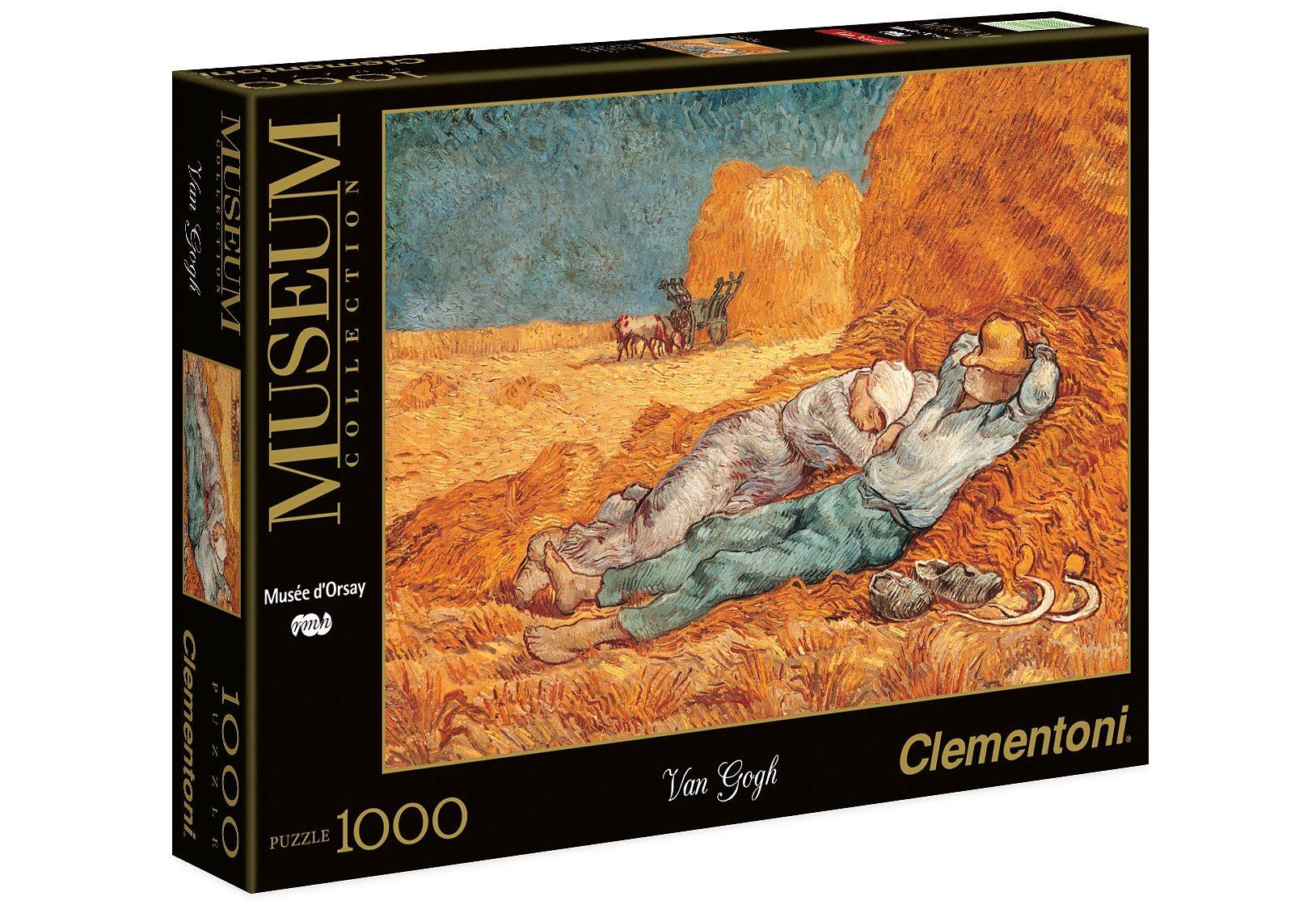 Clementoni Puzzle, 1000 Teile, »Musee D'Orsay, van Gogh - Mittagsrast«