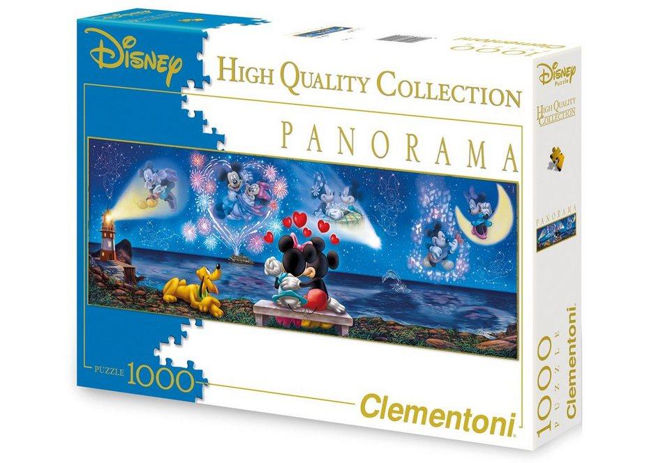 Clementoni Panorama Puzzle, 1000 Teile, »Disney - Mickey und Minnie«