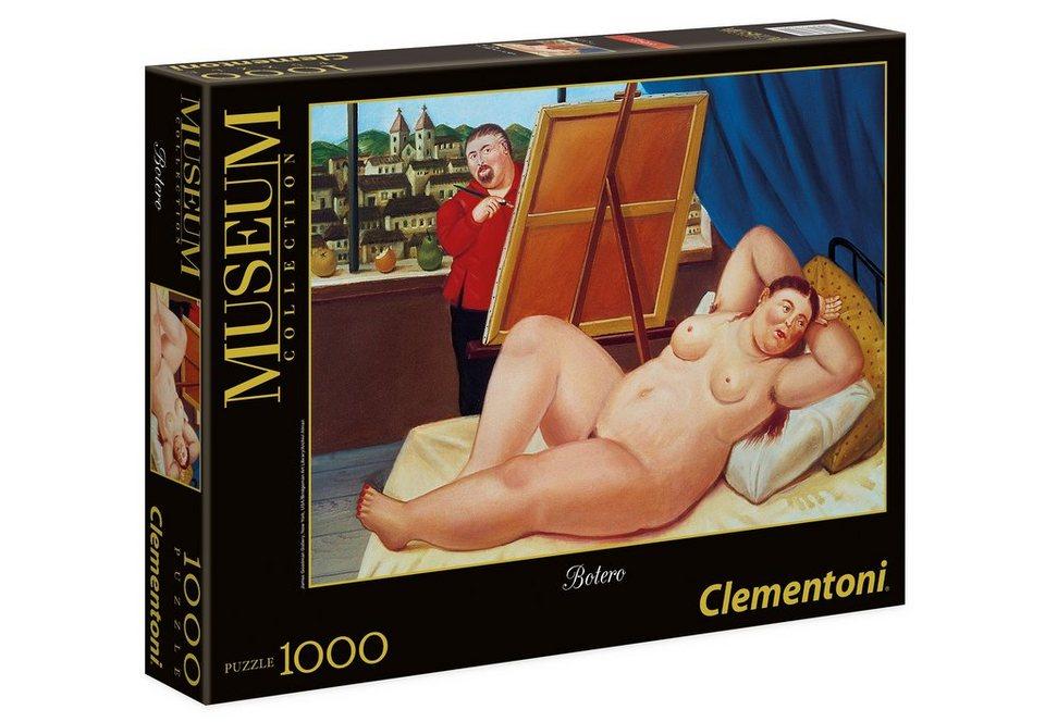 Clementoni Modern Art Puzzle, 1000 Teile, »Fernando Botero - Selbstportrait mit Model«