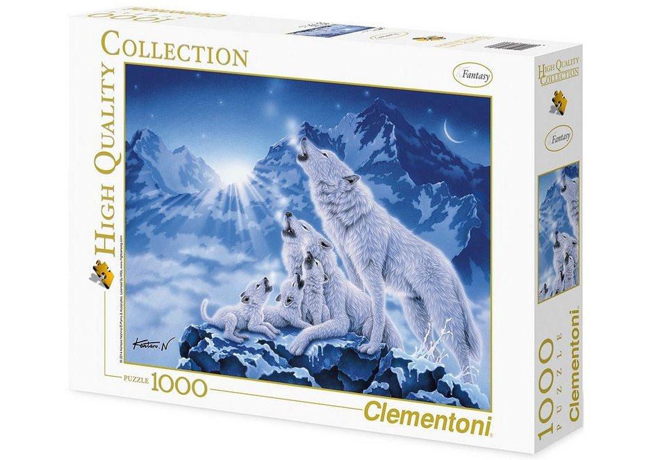 Clementoni Puzzle, 1000 Teile, »Wolfsrudel«