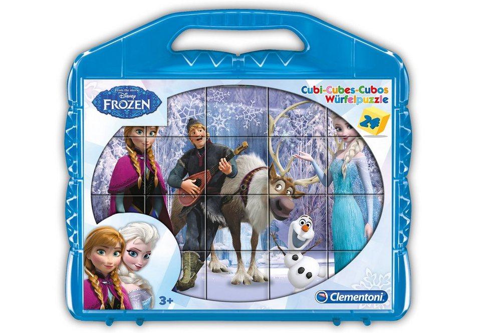 Clementoni Würfelpuzzle, 24 Teile, »Disney Frozen«