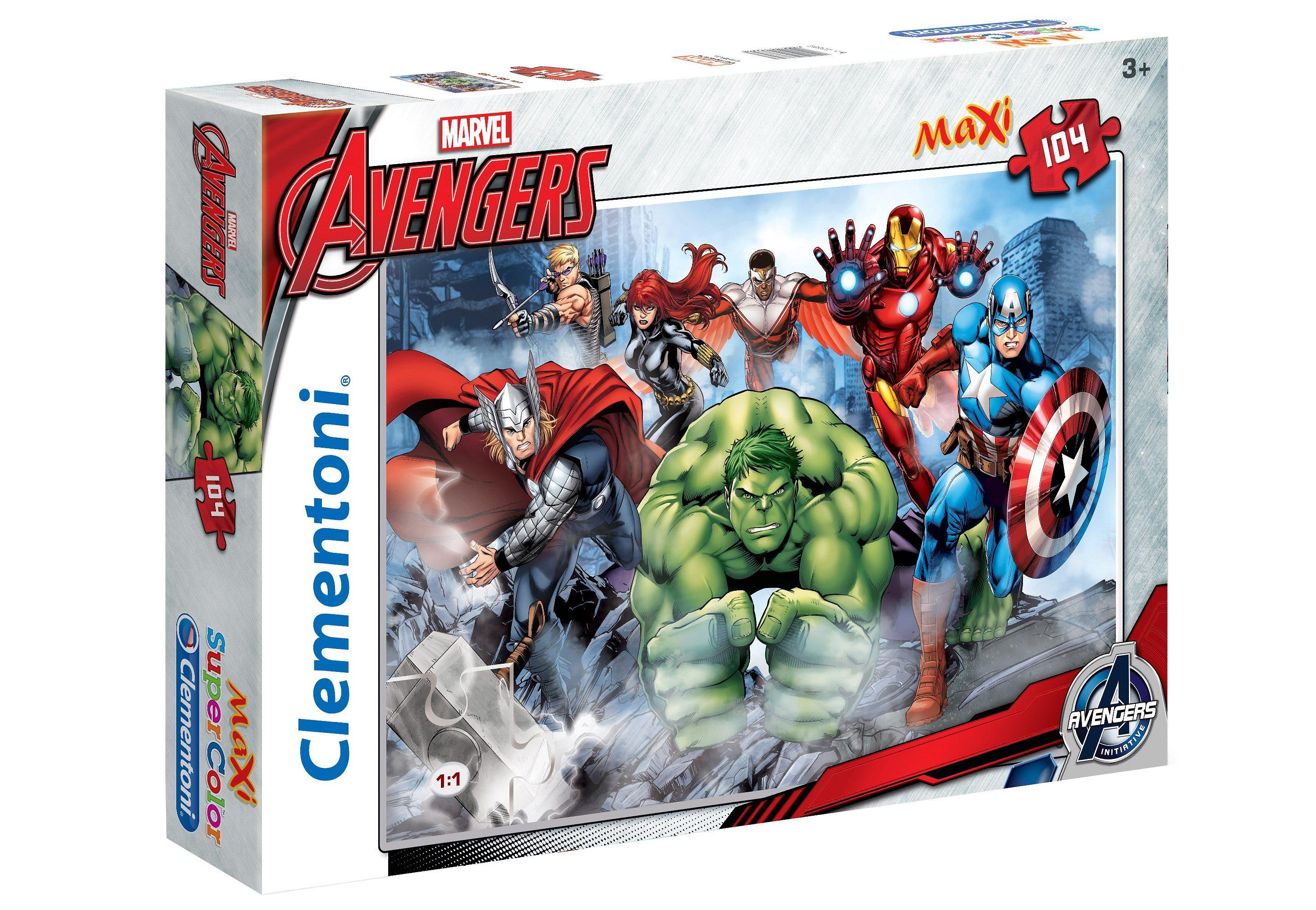 Clementoni Maxi-Puzzle, 104 Teile, »Marvel, Avengers Assemble«