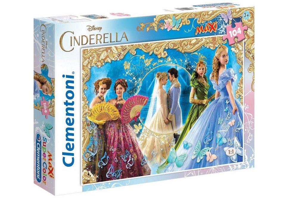 Clementoni Maxi-Puzzle, 104 Teile, »Disney Cinderella«