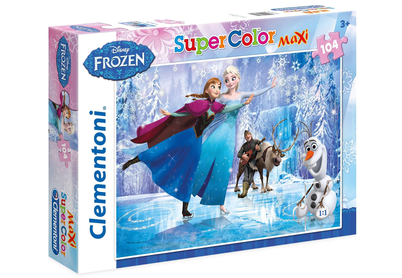 Clementoni Maxi-Puzzle, 104 Teile, »Disney Frozen, Eislaufen«