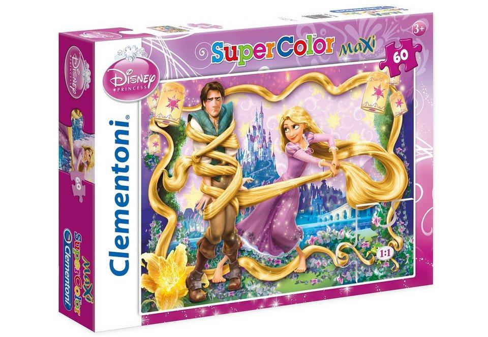 Clementoni Maxi-Puzzle, 60 Teile, »Disney Princess, Rapunzel«