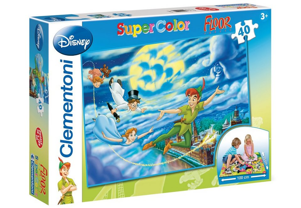 Clementoni Bodenpuzzle, 40 Teile, »Disney, Peter Pan, Nachtflug«