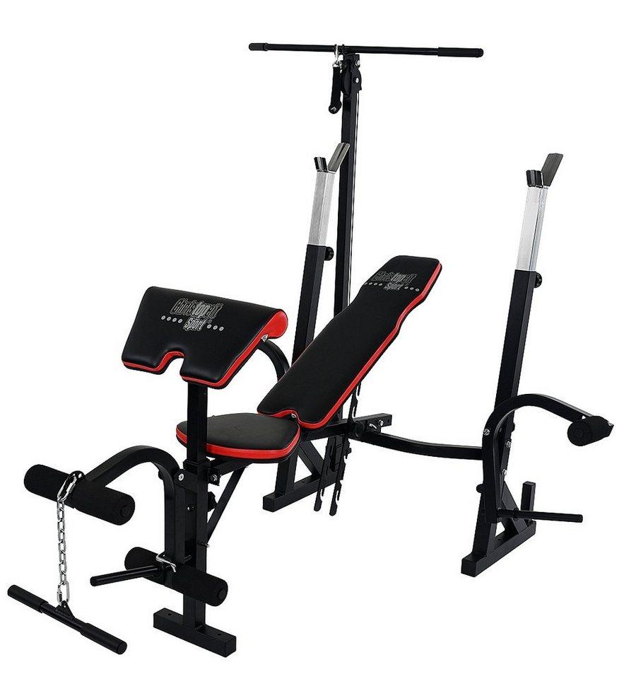 Christopeit Sport® Hantelbank, »Power XL« in schwarz-rot