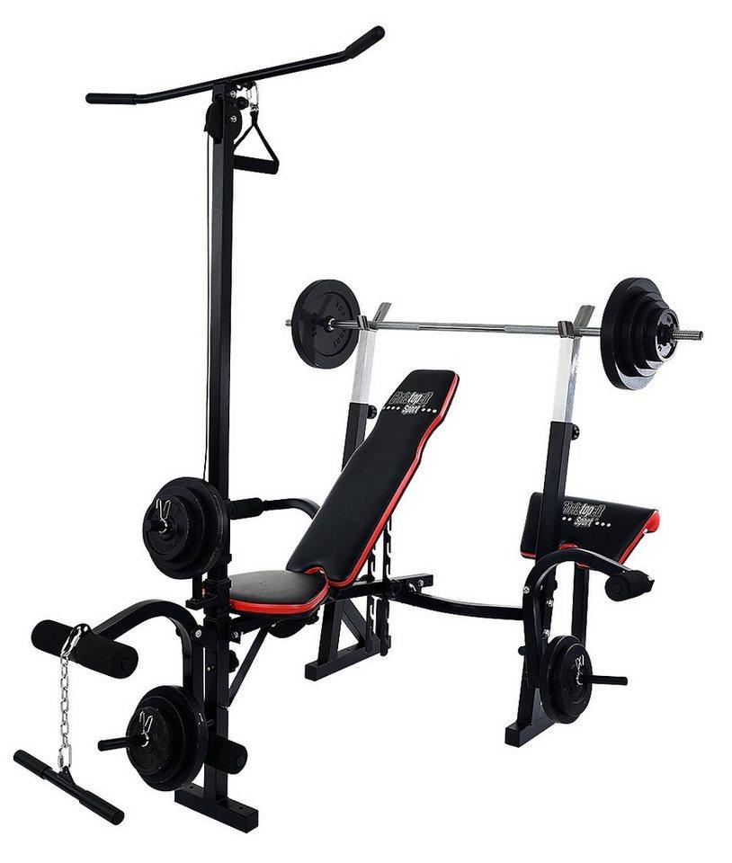 christopeit sport hantelbank inkl 38 5 kg gewichtsset. Black Bedroom Furniture Sets. Home Design Ideas