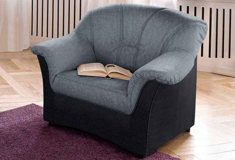DOMO collection Sessel »Flores«, wahlweise mit Federkern (nicht bei Microfaser PRIMABELLE®-Struktur möglich)
