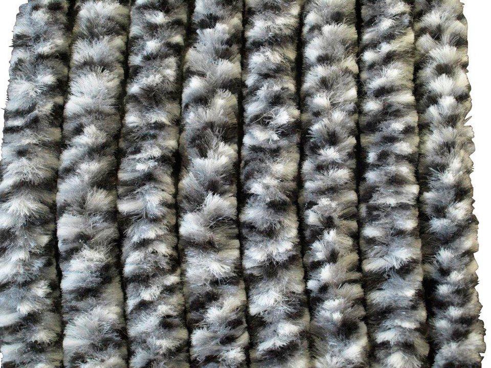 Flauschvorhang »Insektenschutz-Flauschvorhang (grau-weiß-schwarz)«