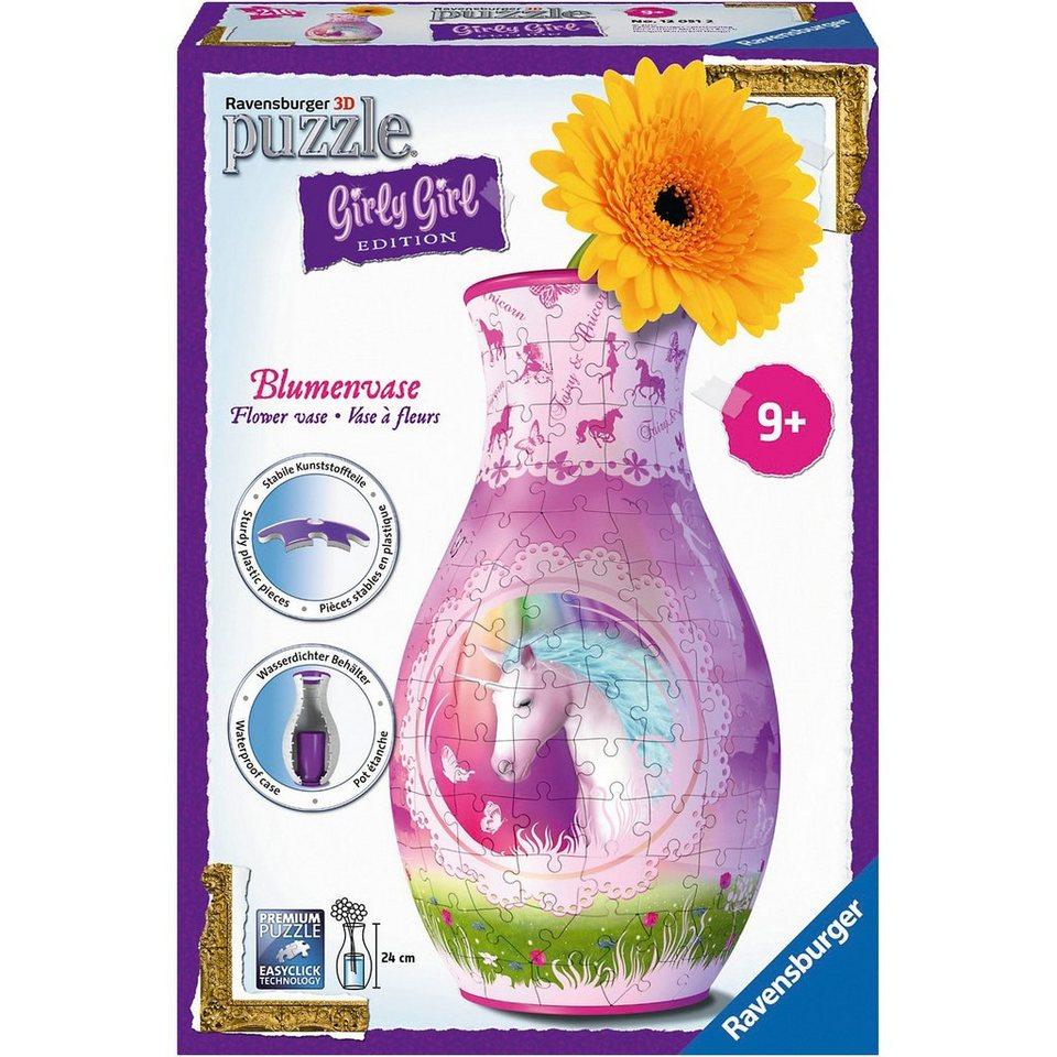 Ravensburger 3-D Puzzle Girly Girl Edition Blumenvase Einhörner