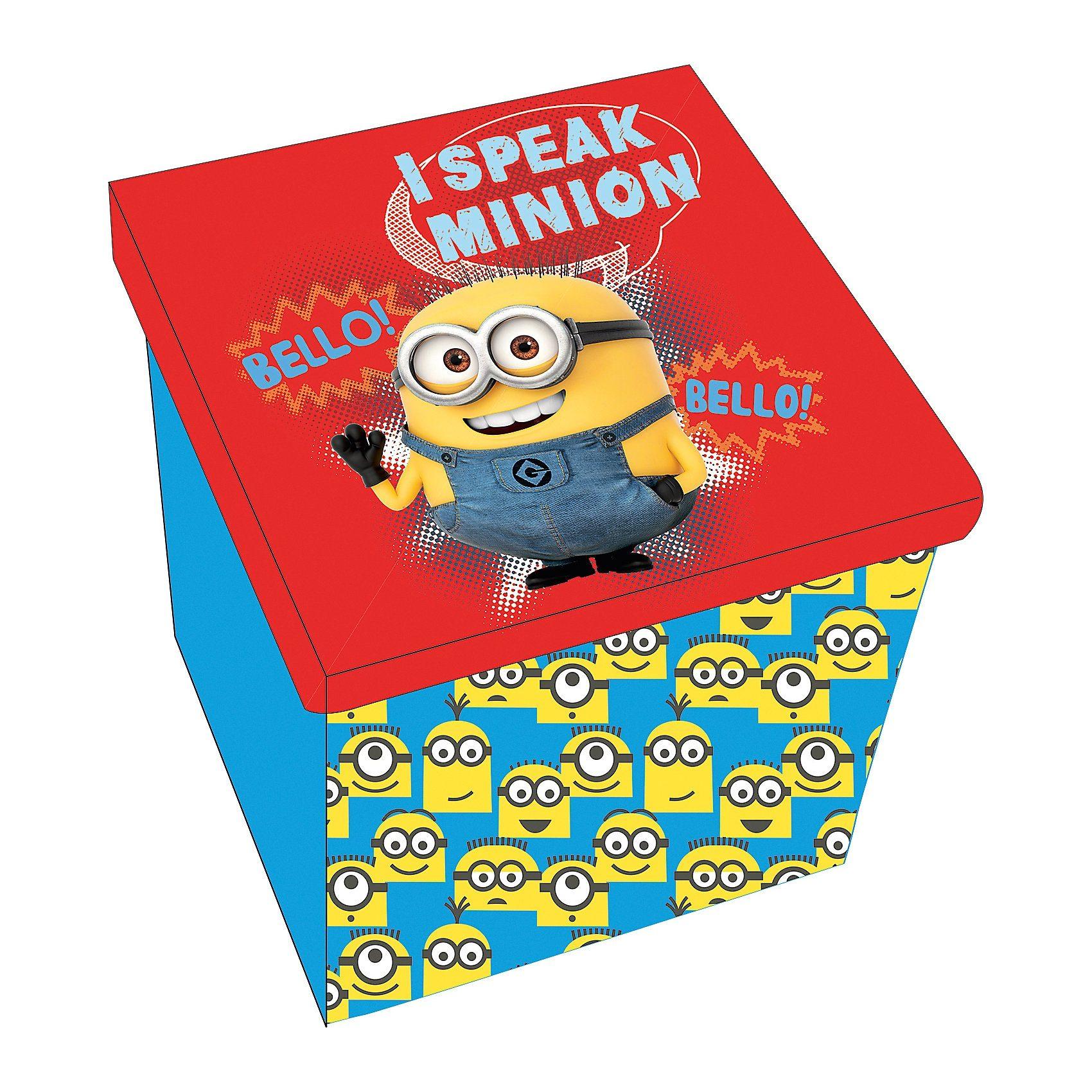 P:OS Aufbewahrungshocker Minions - I speak Minion