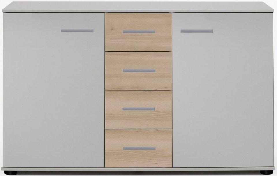 Wimex Kombikommode, 2 Türen in weiß/edelbuchefarben