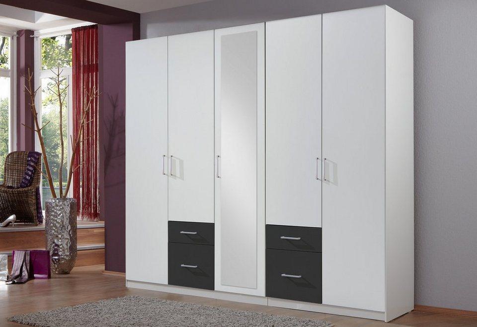 Wimex Schlafzimmer-Spar-Set (4-tlg.) in weiß/anthrazit