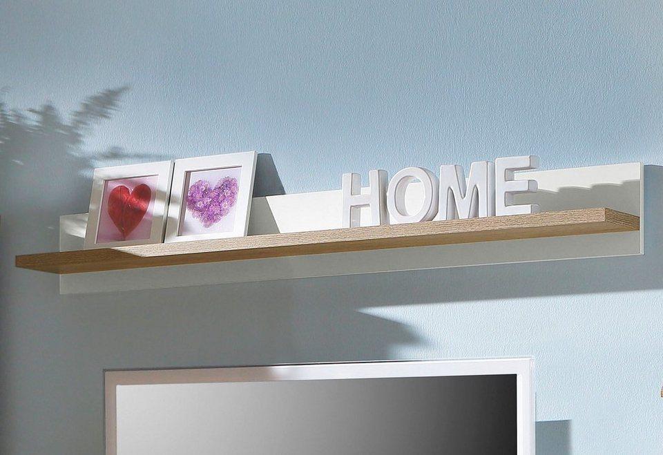 Home affaire Wandboard »Carmen«, Breite 120 cm in weiß/eichefarben
