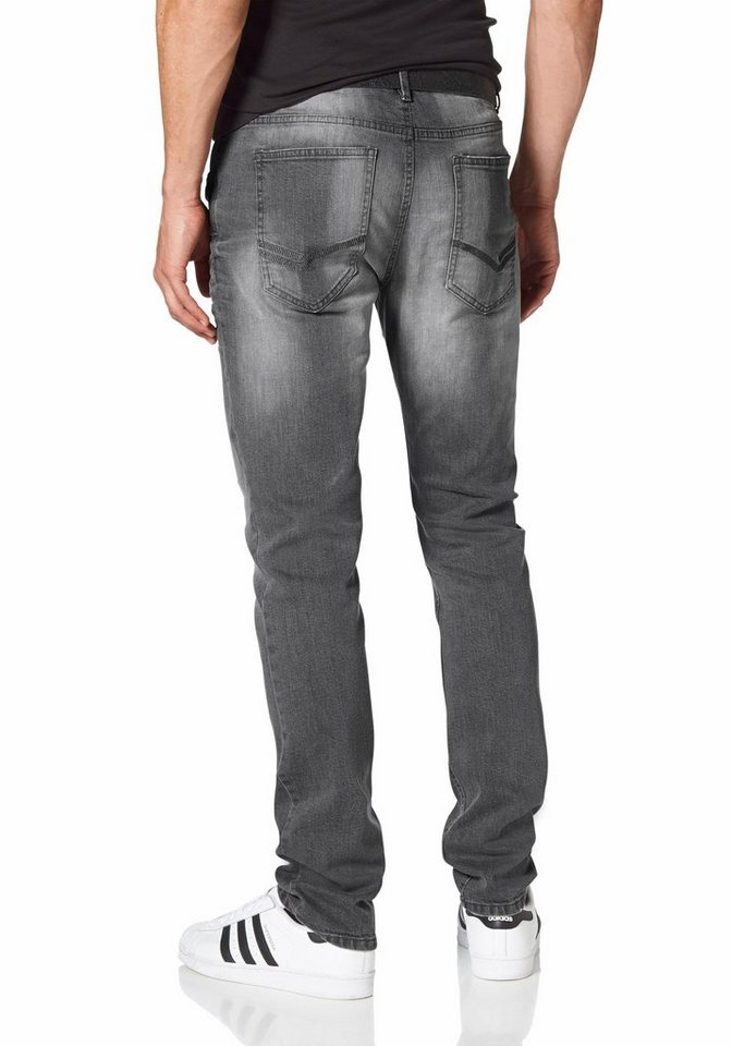 John Devin Slim-fit-Jeans in grey-used