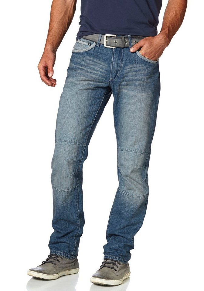 Arizona Workerjeans »Rob« Straight Fit in light-blue-used